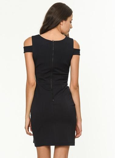 Yaka Detaylı Kalem Elbise-Jus De Pommes